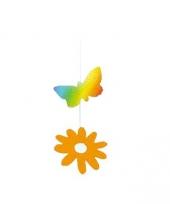 Papieren bloem en vlinder decoratie trend