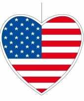 Papieren decoratie hart amerika 30 cm trend