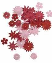 Papieren hobby bloemen rood roze 36 stuks trend