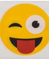 Papieren knipoog smiley servetten 20 stuks trend