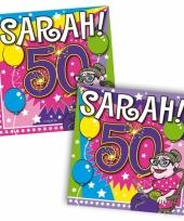 Papieren servetjes sarah 50 jaar trend