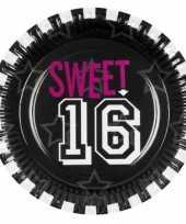 Papieren sweet 16 feestborden trend