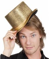 Party hoed hoog met gouden glinsters trend