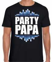 Party papa fun tekst t-shirt zwart heren trend