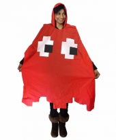 Party regenponcho pacman spook rood trend