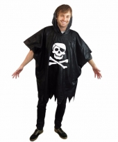 Party regenponcho piraten met doodshoofd trend