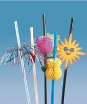 Party rietjes met zomerse decoratie trend