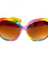 Party zonnebril in regenboog kleuren trend