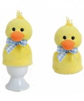 Pasen eierwarmer geel kuikentje 9 cm trend