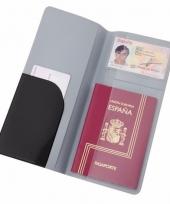 Paspoort houder zwart 22 cm trend