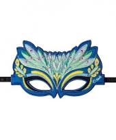 Pauwen oogmasker groen trend
