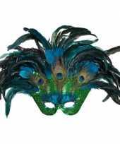 Pauwenveren masker trend