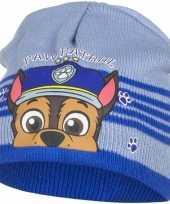 Paw patrol chase muts licht blauw voor jongens trend