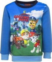 Paw patrol jongens sweater blauw trend