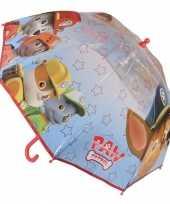 Paw patrol paraplu transparant met sterren trend