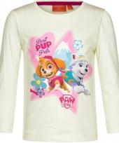 Paw patrol shirt gebroken wit voor meisjes trend