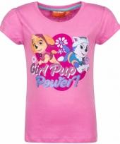 Paw patrol shirt lichtroze voor meisjes trend