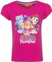 Paw patrol shirt roze voor meisjes trend 10085745