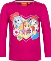 Paw patrol shirt roze voor meisjes trend