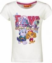 Paw patrol shirt wit voor meisjes trend