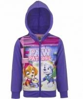 Paw patrol sweater met rits paars trend