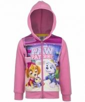 Paw patrol sweater met rits roze trend