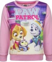 Paw patrol sweater roze trend