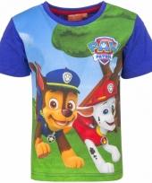 Paw patrol t shirt blauw voor jongens trend