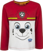 Paw patrol t-shirt marshall rood trend