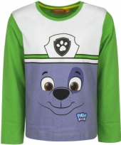 Paw patrol t-shirt rocky groen trend