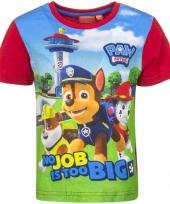 Paw patrol t shirt rood voor jongens trend
