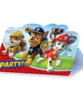 Paw patrol uitnodigingen 8 stuks trend