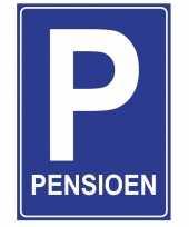 Pensioen poster feest versiering blauw 84 x 59 cm trend