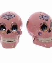 Peper en zout stelletje mexicaanse schedel trend