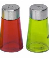 Peper en zout strooiers setje groen rood trend