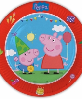 Peppa big thema kinderfeest borden 8 x trend