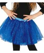 Petticoat tutu verkleed rokje kobalt blauw glitters voor meisje trend