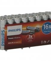 Philips lr03 aaa batterijen 16 stuks trend