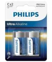 Phillips ll batterijen r14 1 5 volt 2 stuks trend