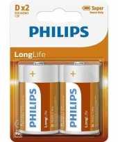 Phillips ll batterijen r20 1 5 volt 2 stuks trend