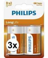 Phillips ll batterijen r20 1 5 volt 6 stuks trend