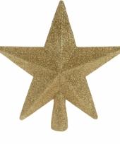 Piek stervorm goud met glitters trend