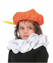 Pieten kraag accessoires wit voor kinderen trend