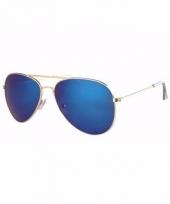 Piloten heren zonnebril blauw type 1227 trend
