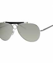 Pilotenbril met spiegelglas trend