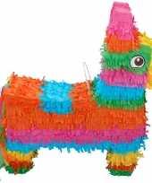 Pinata gekleurde ezel 40 cm trend