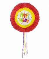 Pinatas rond happy birthday regenboog kleuren trend