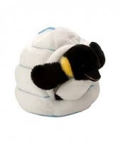 Pinguin in iglo knuffeltje 28 cm trend