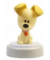 Pip hondje led nachtlampje 14 cm trend