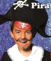 Piraat schminken schminkset 6 delig trend